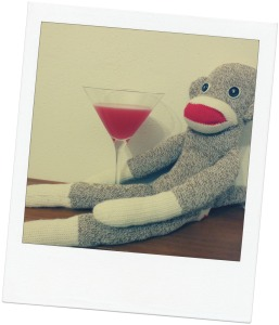 Although he was excited to have a cocktail as big as his head, Sammy wasn't sure about drinking something called a Monkey Gland. Maybe the bartender was just   aping around?